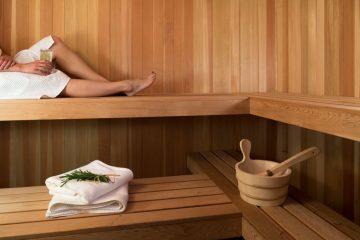 kobieta w saunie