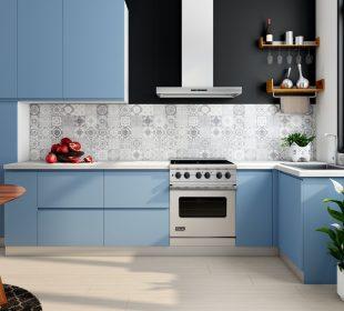 Kuchnia w pastelowych kolorach