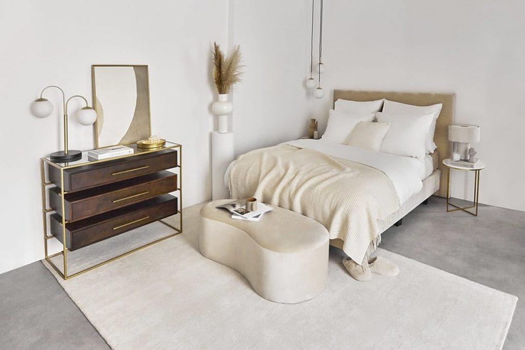 sypialnia w letniej aranżacji