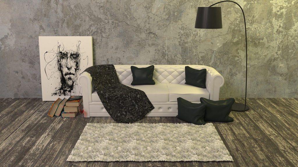 dywan w salonie - aranżacja